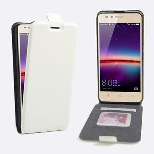 Flipové PU kožené puzdro na Huawei Y3 II - biele - 1