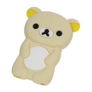 Bear silikónový obal na iPod Nano 7 - béžový - 1