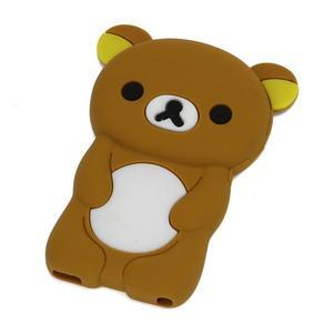 Bear silikónový obal pre iPod Nano 7 - hnedý - 1