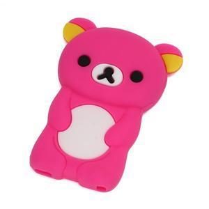 Bear silikónový obal na iPod Nano 7 - rose - 1