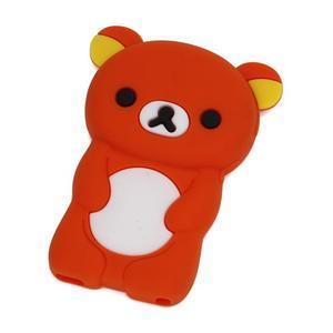 Bear silikónový obal na iPod Nano 7 - oranžový - 1