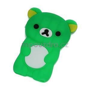 Bear silikónový obal pre iPod Nano 7 - zelený - 1
