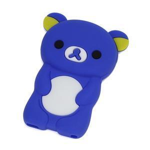Bear silikónový obal na iPod Nano 7 - modrý - 1