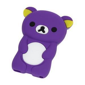 Bear silikónový obal na iPod Nano 7 - fialový - 1