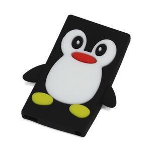Penguin silikónový obal pre iPod Nano 7 - čierny - 1