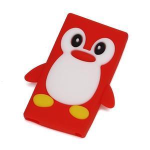 Penguin silikónový obal pre iPod Nano 7 - červený - 1