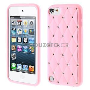 Brite silikónový obal s kamienkami iPod Touch 6 / Touch 5 - ružový - 1