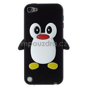 Penguin silikónový obal na iPod Touch 6 / iPod Touch 5 - čierny - 1