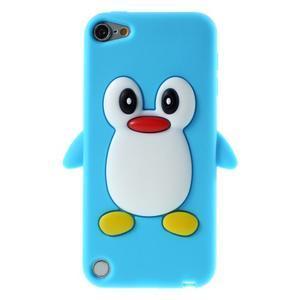 Penguin silikónový obal na iPod Touch 6 / iPod Touch 5 - svetlomodrý - 1