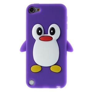 Penguin silikónový obal na iPod Touch 6 / iPod Touch 5 - fialový - 1