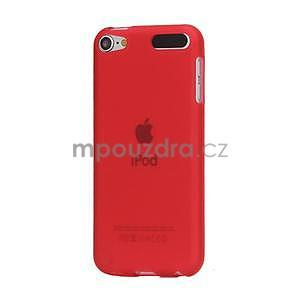 Matte gélový obal na iPod Touch 5 a iPod Touch -  červený - 1