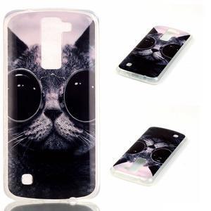 Jells gelový obal na LG K8 - cool kočka - 1