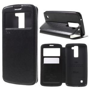 Richi PU kožené puzdro pre mobil LG K8 - čierne - 1