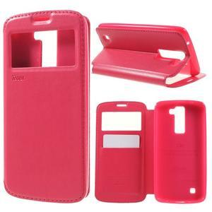 Richi PU kožené pouzdro na mobil LG K8 - rose - 1