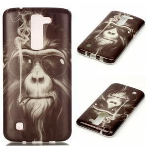 Emotive gélový obal pre mobil LG K8 - opičák - 1