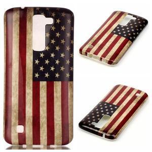 Emotive gélový obal pre mobil LG K8 - US vlajka - 1