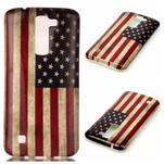 Emotive gélový obal pre mobil LG K8 - US vlajka - 1/4