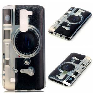 Emotive gélový obal pre mobil LG K8 - retro foťák - 1