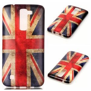 Emotive gélový obal pre mobil LG K8 - UK vlajka - 1