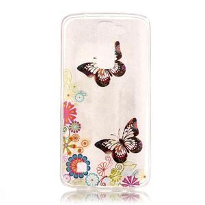 Průhledný gelový obal na telefon LG K8 - motýlek - 1