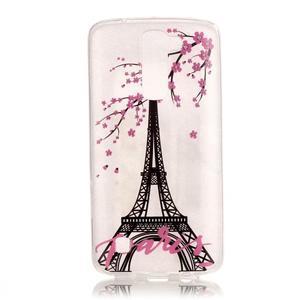 Průhledný gelový obal na telefon LG K8 - Eiffelova věž - 1