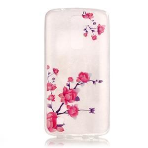 Priehľadný gélový obal pre telefon LG K8 - kvitnúce vetvička - 1