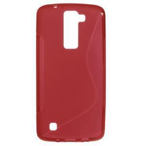 S-line gélový obal pre LG K8 - červený - 1