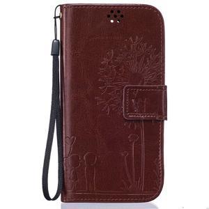 Dandelion PU kožené pouzdro na mobil LG K8 - hnědé - 1
