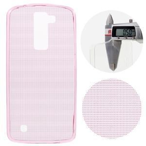 Ultratenký gélový obal pre mobil LG K8 - ružový - 1