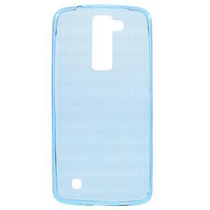 Ultratenký gélový obal pre mobil LG K8 - modrý - 1