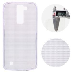 Ultratenký gélový obal pre mobil LG K8 - fialový - 1