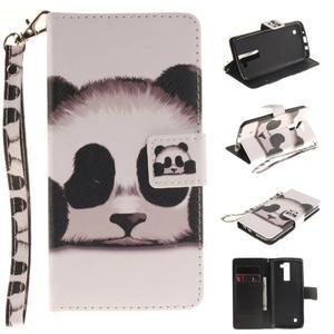 Style PU kožené puzdro pre LG K8 - panda - 1