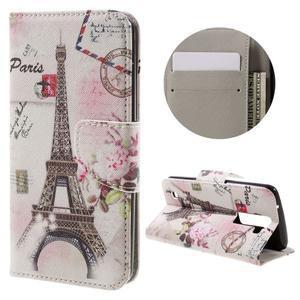 Emotive PU kožené pouzdro na LG K8 - Eiffelova věž - 1