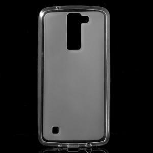 Matný gélový obal pre mobil LG K8 - transparentný - 1