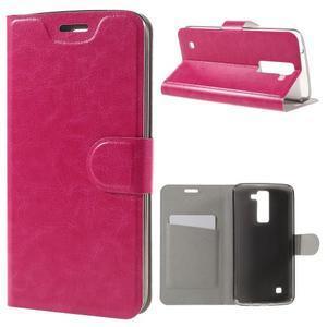 Horse PU kožené puzdro pre mobil LG K8 - rose - 1