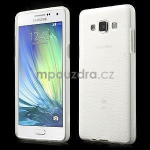 Broušený gélový obal Samsung Galaxy A5 - biely - 1