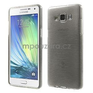 Brúsený gélový obal Samsung Galaxy A5 - šedý - 1