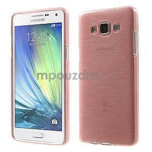 Broušený gélový obal Samsung Galaxy A5 - růžový - 1