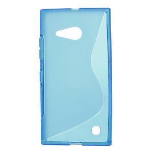 Gélový s-line obal na Nokia Lumia 730 a Lumia 735 - modrý - 1