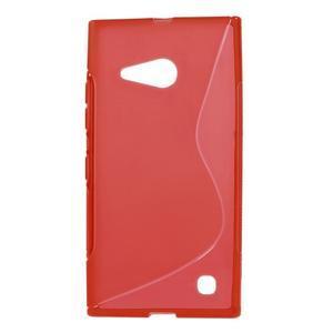 Gélový s-line obal na Nokia Lumia 730 a Lumia 735 - červený - 1