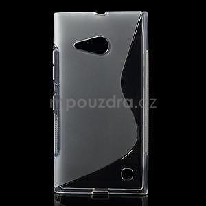 Gélový s-line obal pre Nokia Lumia 730 a Lumia 735 - transparentný - 1