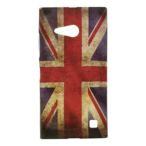 Gélové puzdro na Nokia Lumia 730 a Lumia 735 - UK vlajka - 1