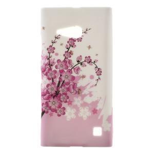 Gélové puzdro na Nokia Lumia 730 a Lumia 735 - kvetoucí větvička - 1