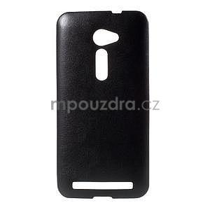 Gélový kryt s imitáciou kože Asus Zenfone 2 ZE500CL - čierny - 1