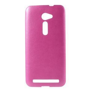 Gélový kryt s imitáciou kože Asus Zenfone 2 ZE500CL - rose - 1