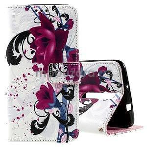 Zapínacie peňaženkové puzdro na Asus Zenfone 2 ZE551ML - kvetiny - 1