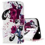 Zapínacie peňaženkové puzdro na Asus Zenfone 2 ZE551ML - kvetiny - 1/7