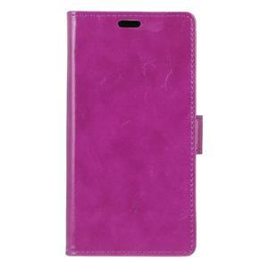 Crazy PU kožené puzdro na mobil Asus Zenfone 4 Selfie Pro ZD552KL - fialové - 1
