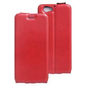 Flipové PU kožené puzdro pre mobil HTC One A9s - červené - 1