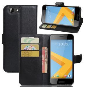 Graines PU kožené puzdro pre HTC One A9s - čierné - 1